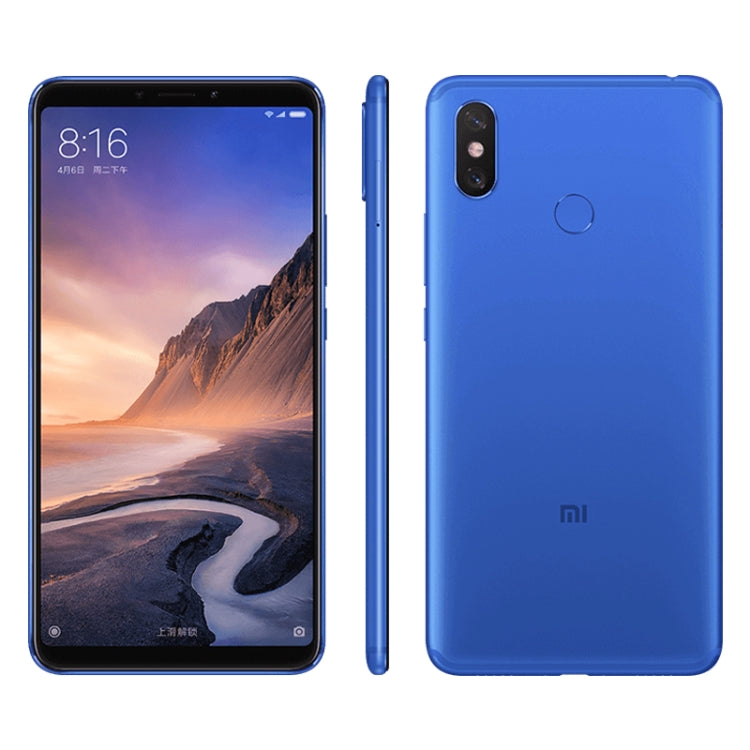 Xiaomi Mi Max 3, 4GB+64GB Dual AI Rear Cameras, Face ID & Fingerprint Identification Mobile phone-BLUE