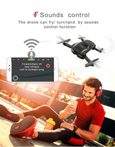 DRONE GW186 Selfie Foldable Drone Folding Wifi FPV Phone Voice Control Drone RC Quadcopter