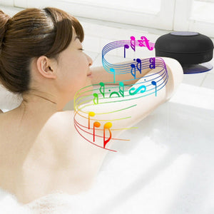 IP x 4 Waterproof Wireless Bluetooth 3.0 Protable Speaker Shower Car Handsfree Receive Call & Music Suction Phone Mic