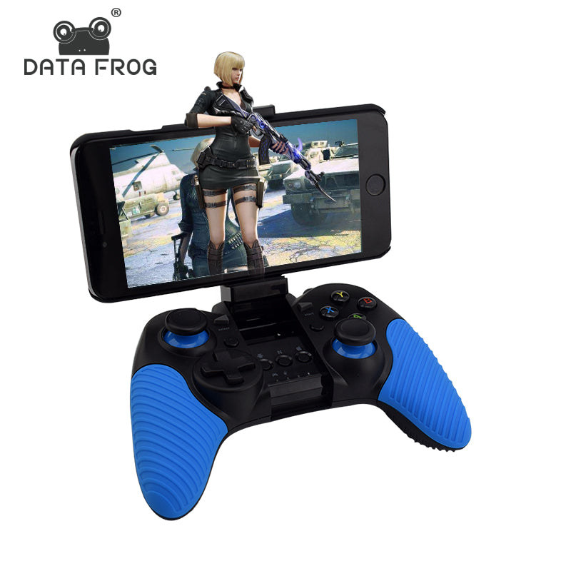 Portable Wireless Bluetooth Game Controller For PC Android/IOS Phone Dual Vibration Joystick Gamepads For Android TV Box/Tablet