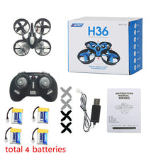 JJRC H36 RC Drone Mini Drone 2.4GHz 4CH Drones RC Quadcopter With Headless Mode Dron Quadrocopter RC Helicopter For Kids Gift
