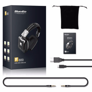 Bluedio F800 Active Noise Cancelling Wireless Bluetooth headphones Junior ANC Edition around the ear headset (black)