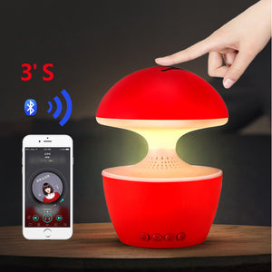 Mini LED Bluetooth Wireless Speaker For Phone Computer Handsfree with Touch Night Light