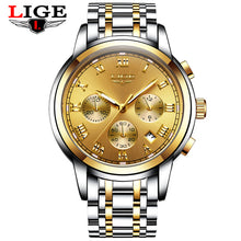 New Watches Men Luxury Brand LIGE Chronograph
