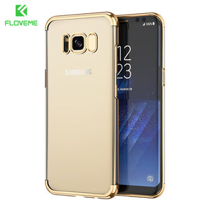 FLOVEME Fashion Case For Samsung S8 Plus Case Light Luxury 3D Plating Mobile Phone Case Cover For Samsung Galaxy S8 Hard PC Capa