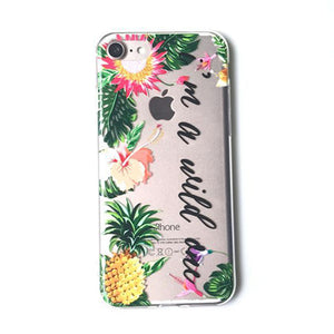 LACK Summer Palm Leaf Phone Case For iphone 7 Plus Case Clear Soft TPU Cover Cartoon Banana Leaves Cases For iphone 7 Case