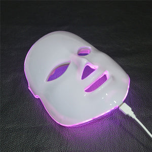 7 Colors Beauty Therapy Photon LED Facial Mask Light Skin Care Rejuvenation Wrinkle Acne Removal