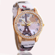 2017 New Fashion Chinese Style Peony Pattern Watch Gilt Digital Quartz Casual Leather
