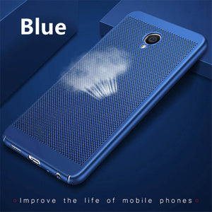 heat dissipation phone cases for Meizu M3 note M3s case PC Hard Back Plastic Matte Full Protection Cover For meizu m5s case