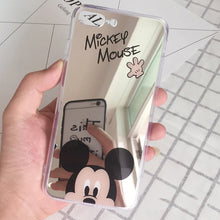 Luxury Mickey Minnie Mirror Phone Case Cover for Apple iPhone 8 7 6S 6 Plus S Cases Plating Soft Silicone Coque funda Capinhas