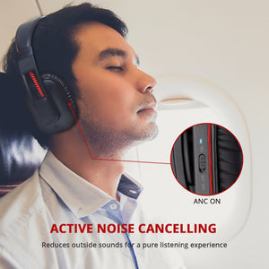iDeaPlay V207 Active Noise Cancelling Foldable Wireless Headphone Over ear ANC Bluetooth Headphones with Apt-X and Mic
