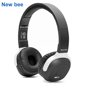 New Bee Wireless Bluetooth Headphone Stereo Portable Folder Headset Earphone with Sport App Microphone NFC for Phone Computer TV