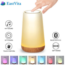 EastVita LED Portable Mini Bluetooth Speakers Wireless Hands Free Speaker Led Smart Bedside Lamp Colorful Night Light  YX025