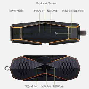 2018 LEORY New Outdoor Bluetooth Speaker Portable Waterproof Wireless Speaker with Microphone Handfree Mosquito repellent