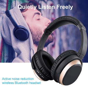 BH519 Over-ear Type ANC Multifunctional Active Noise Reduction Bluetooth 4.0 Wireless Headset High Fidelity Stereo Headphones
