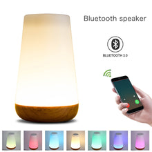 2018 New Touch Control Smart With Bluetooth Speaker Control Night Light And Dimmable Color Control speaker