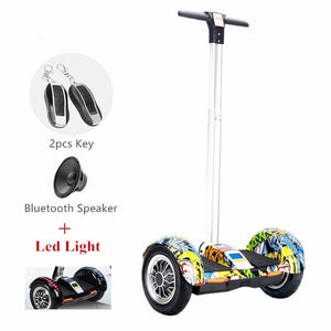 2018 New 10inch Hoverboard Electric Scooter Bluetooth +Speaker+Led Light+Remote key Self balancing scooter