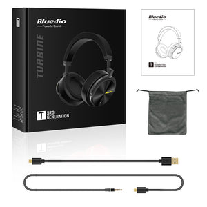 Bluedio 2018 New Bluetooth headsets T5 wireless ANC headphone active noise cancelling headset with microphone