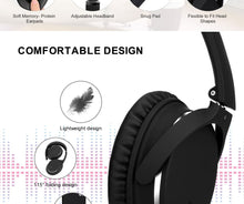 ANC Active Noise Cancelling Headphones Hifi Bluetooth Wireless Over Ear Earphones Foldable deep bass Headset with microphone