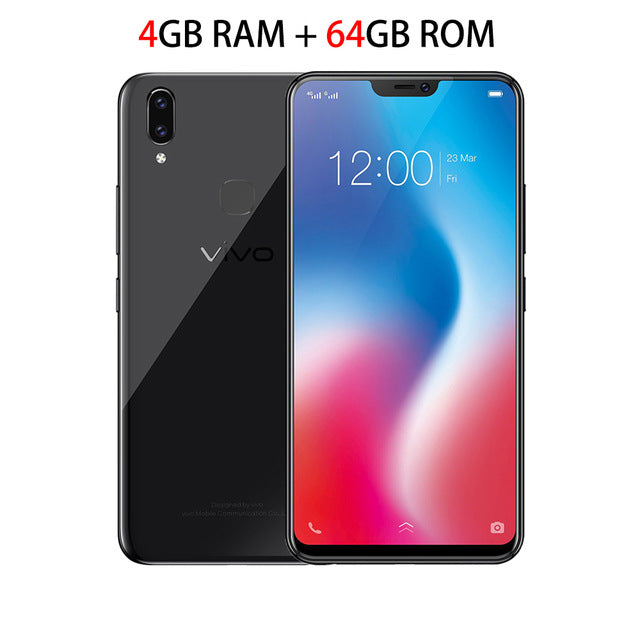 Global Version VIVO V9 Mobile phone  Snapdragon 626 Octa-core 4GB RAM 64GB ROM Full Scree 6.3
