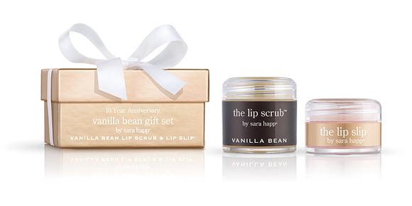 Sara Happ Vanilla Bean Gift Set-Lip Scrub and Lip Slip