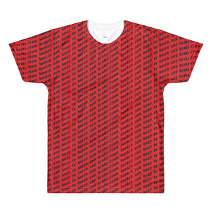 BOOKED TO BROKE RED TEE