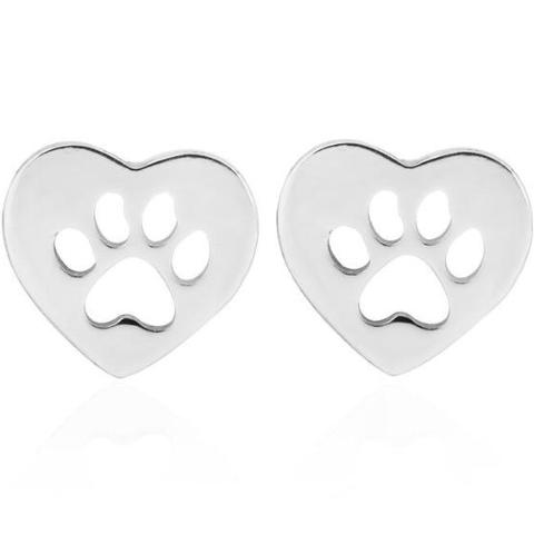 Heart and Paw Earrings