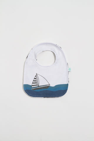 Sailboat Reversible Bib