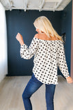 Seeing Spots Off-The-Shoulder Blouse