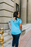 Behind My Back Tee In Turquoise