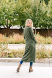 Farmer's Market Two-Tone Cardi In Olive