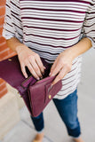 Mia Multi Pocket Crossbody in Burgundy