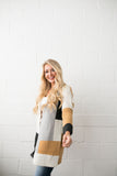 Modern Art Colorblock Cardigan - ALL SALES FINAL