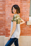 Move Out Camo Color Block Tee