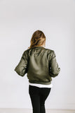 Olivia Olive Green Bomber - ALL SALES FINAL