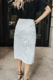 Pencil + Pinstripes Skirt