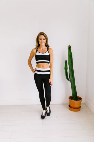 Racing Stripes Athletic Leggings