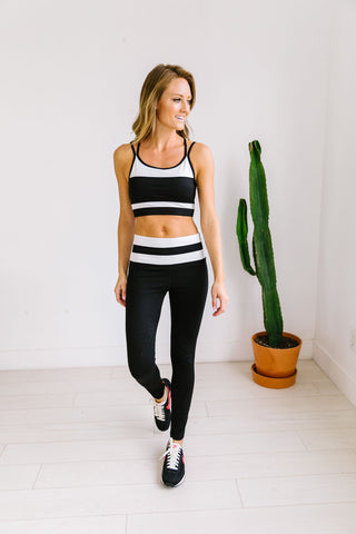 Racing Stripes Sports Bra