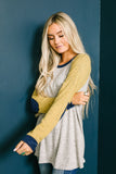 Rainy Day Raglan Color Block Sweater