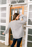 Ray Of Happiness Sweater In Heather Gray - ALL SALES FINAL