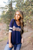 Retro Football In Navy - ALL SALES FINAL