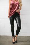 Rockin' Rockette Sequined Leggings In Black - ALL SALES FINAL