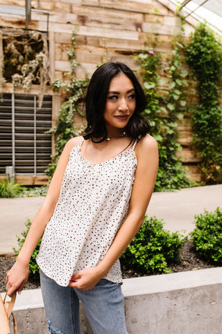 Ruffles & Dots Camisole In Ivory