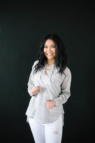 Sasha Ties Tunic in Gray