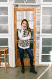 Stroke Of Genius Leopard & Stripes Top - ALL SALES FINAL