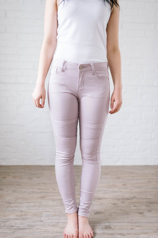 The Mauve Moto Pants