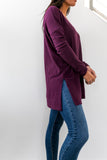 Thermal Tunic In Dark Plum