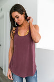 Twisted Sister Tank In Burgundy - ALL SALES FINAL