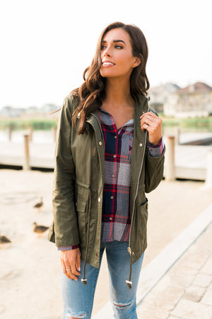 Adventures Await Flannel Button Down