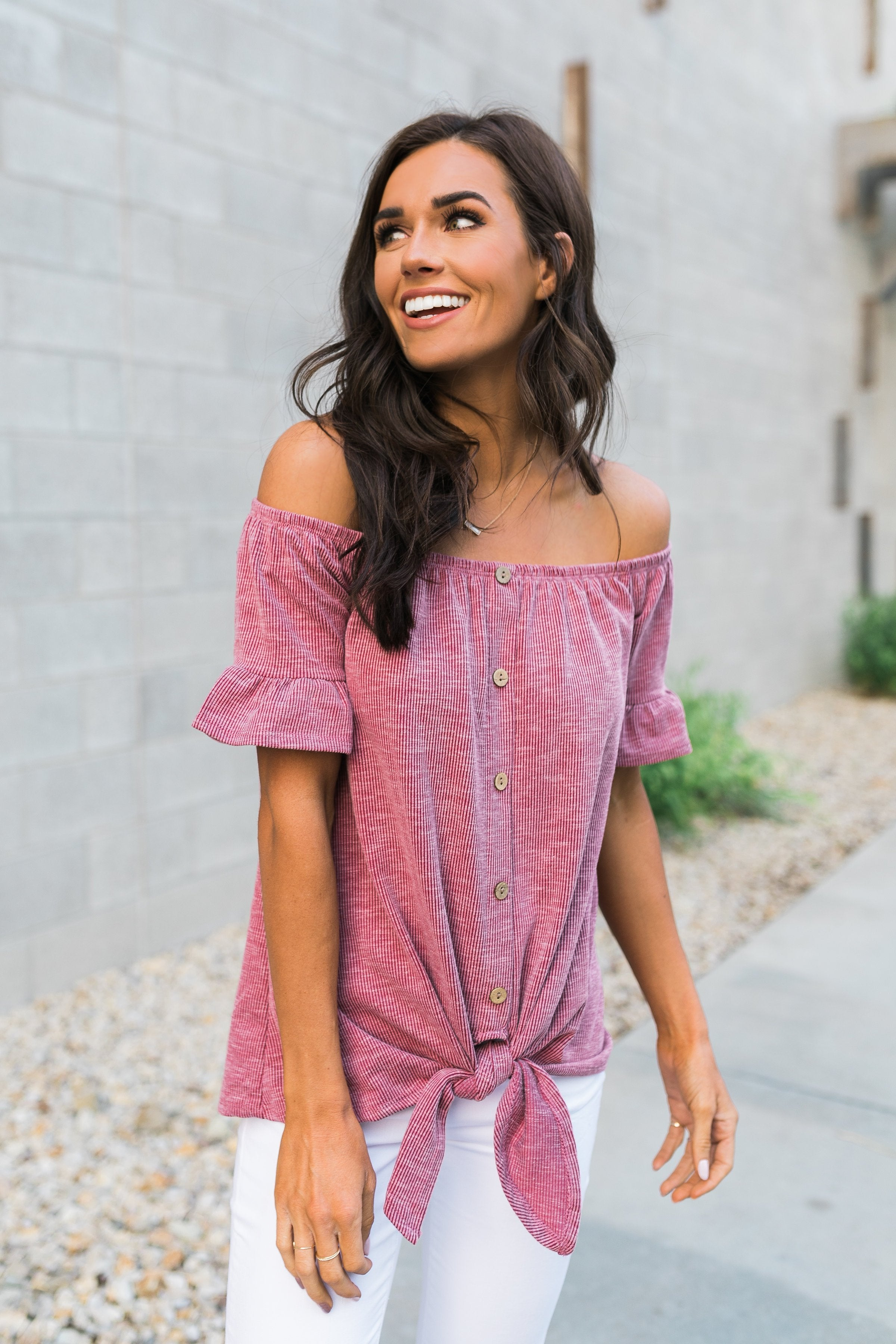 Girl's Night Top In Mauve